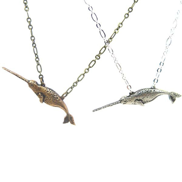 Mini Narwhal Necklace - Wanderlust + Wildhearts