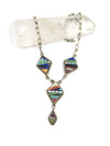 Diamond Drop Micro-Inlay Necklace - Wanderlust + Wildhearts