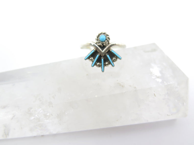Turquoise Needle Point Princess Ring - Wanderlust + Wildhearts