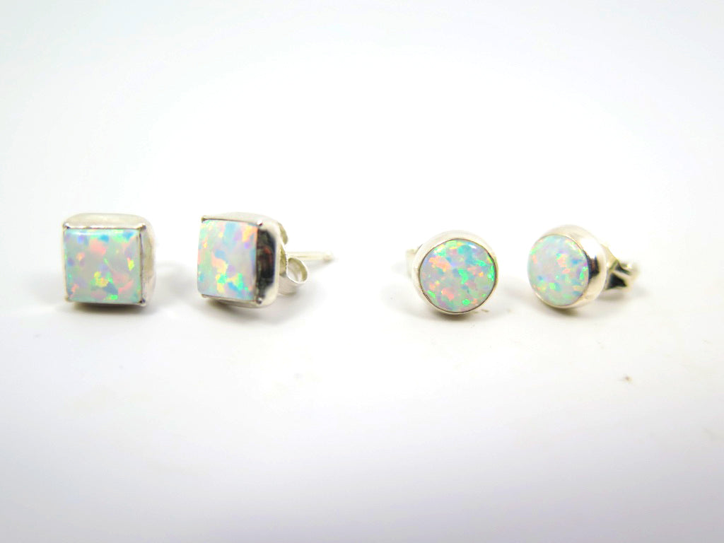 Opal Post Earrings - Wanderlust + Wildhearts