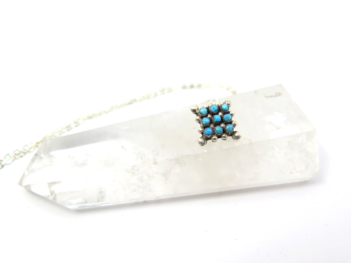 Snake Eyes Turquoise Diamond Necklace - Wanderlust + Wildhearts