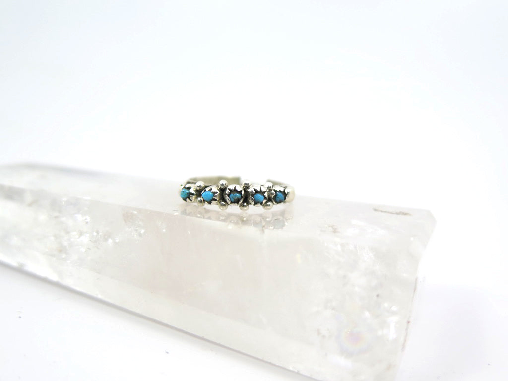 Simple Turquoise Snake Eyes Style Ring - Wanderlust + Wildhearts