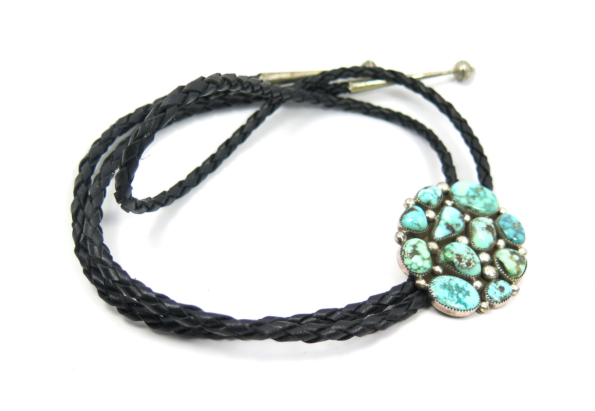 Turquoise + Leather Mosiac Bolo - Wanderlust + Wildhearts