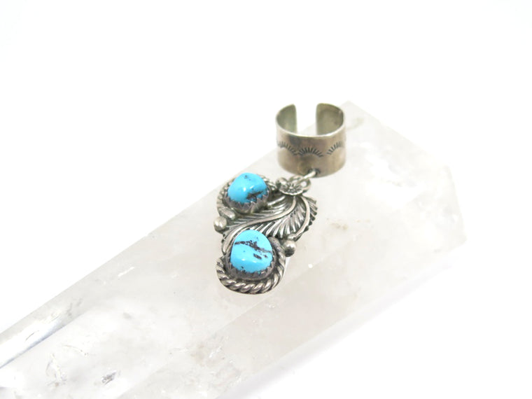 Vintage Turquoise Ear Cuff - Wanderlust + Wildhearts