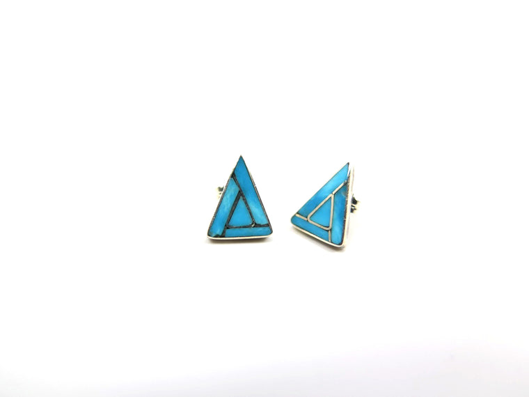 Kingman Triangle Inlay Earrings - Wanderlust + Wildhearts