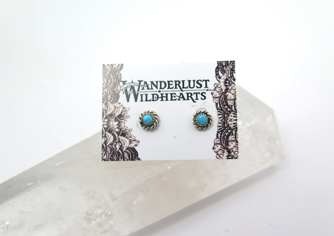 Classic Turquoise Post Earrings - Wanderlust + Wildhearts