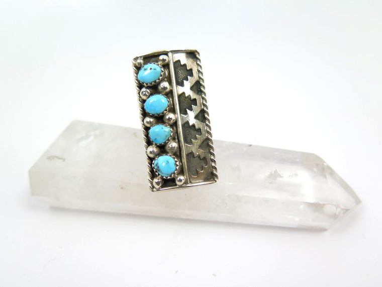 Turquoise Shield Cast Ring - Wanderlust + Wildhearts