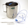 2 Liter Stainless Steel Enema Bucket with Hose and Two Nozzles