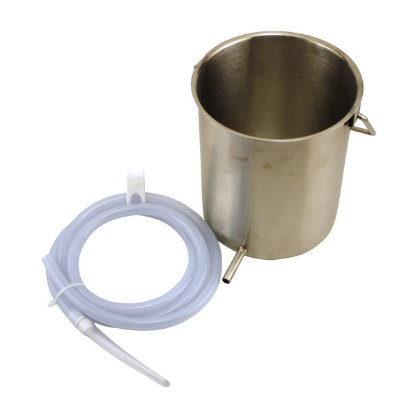 Stainless Steel Enema Bucket Kit 2 Quart Bucket