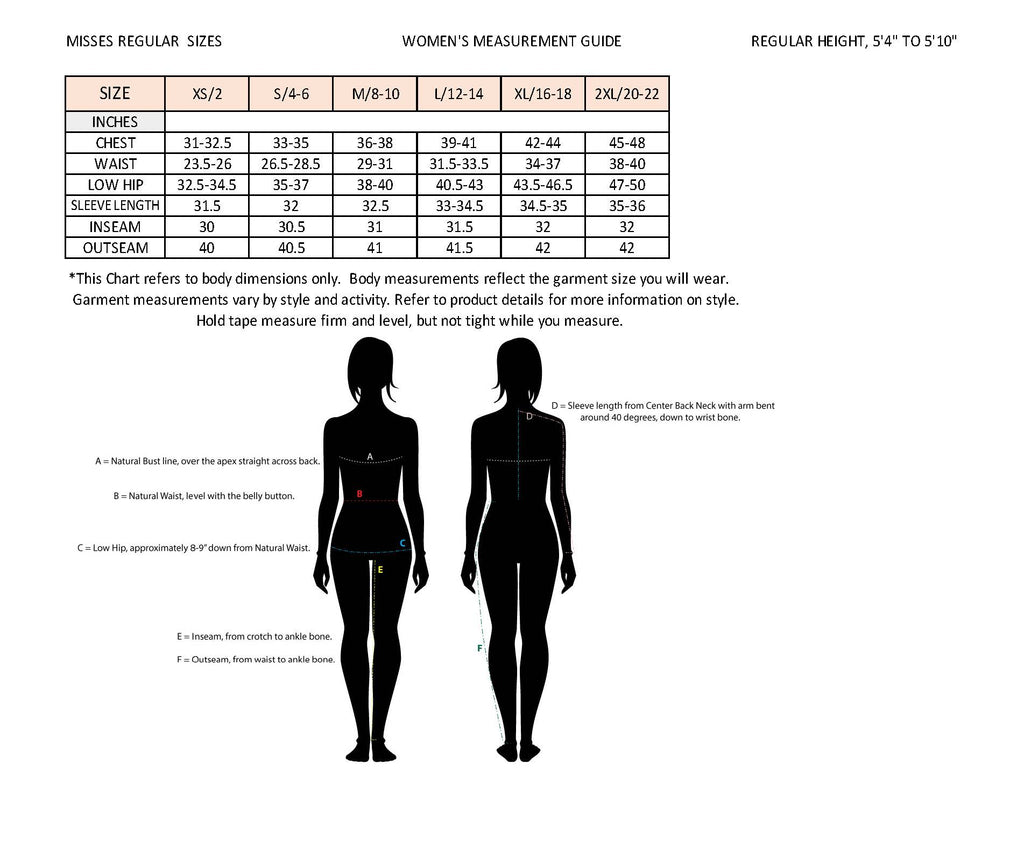 Women's Sizing Chart