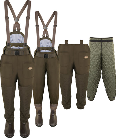 Guardian Elite™ 6 Layer 4-in-1 Waist-High Wader with Tear-Away Liner [Stout/King]
