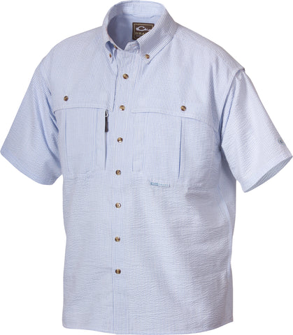 Youth Seersucker Wingshooter's Shirt Short Sleeve