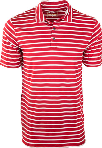 Performance Stretch Striped Polo