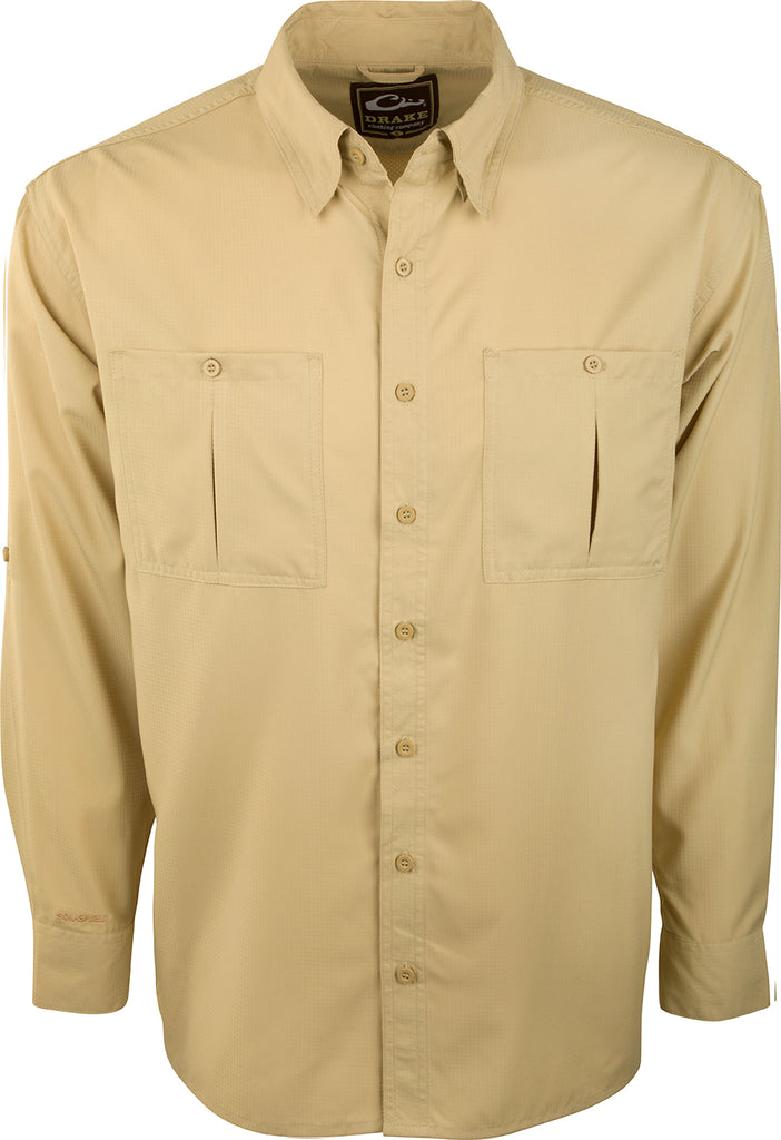 Flyweight Shirt With Vented Back L S Drake Waterfowl