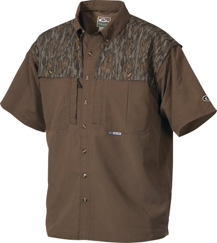 Youth Two-Tone Camo Wingshooter's Shirt Short Sleeve
