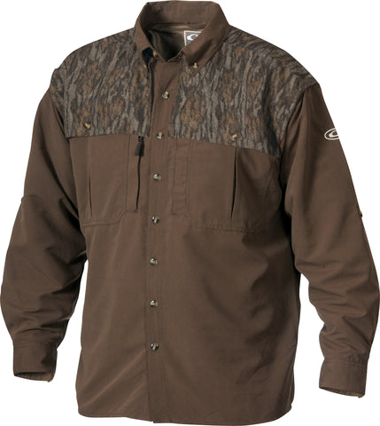 Youth Two-Tone Camo Wingshooter's Shirt Long Sleeve