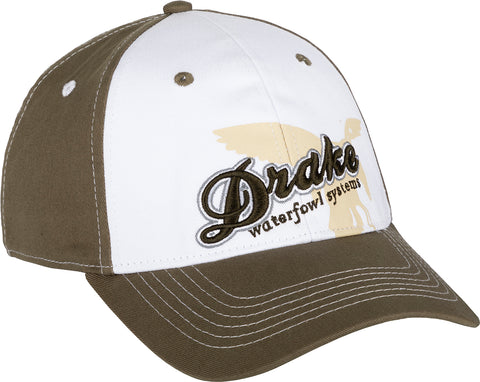 Stretch Fit White Front Cap