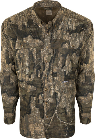 Drake Long Sleeve Mesh Back Flyweight Shirt with Agion Breakup Country 3XLarge
