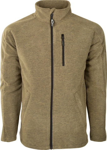 Heathered Windproof Full Zip