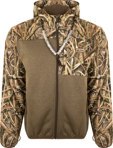 MST Endurance Hybrid Liner Full Zip with Hood - Mossy Oak Blades