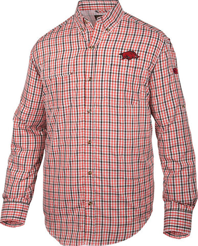 Arkansas Gingham Plaid Wingshooter's Shirt Long Sleeve