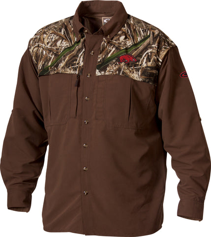 Arkansas 2-Tone Camo Wingshooter's Shirt L/S