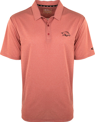 Arkansas Vintage Heather Polo