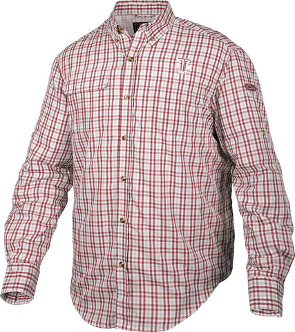 Texas A&M Gingham Plaid Wingshooter's Shirt L/S