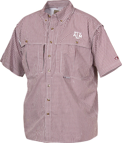 Texas A&M Plaid Wingshooter's Shirt Short Sleeve
