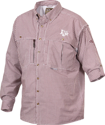 Texas A&M Plaid Wingshooter's Shirt L/S