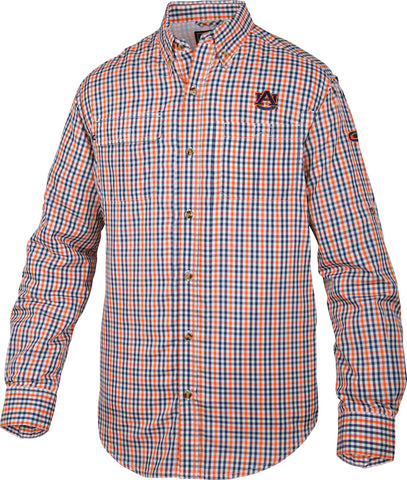 Auburn Gingham Plaid Wingshooter's Shirt Long Sleeve
