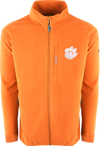 Clemson Full Zip Camp Fleece