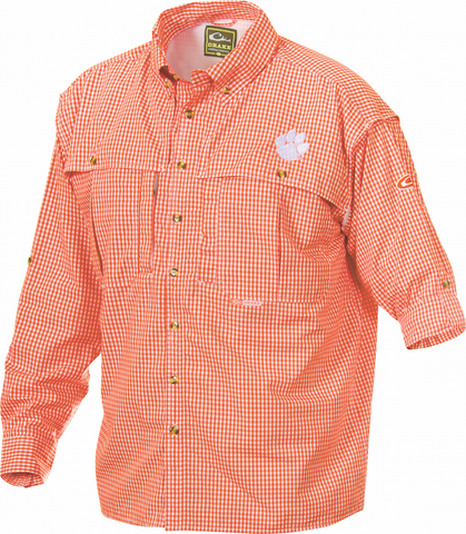 Clemson Plaid Wingshooter's Shirt Long Sleeve