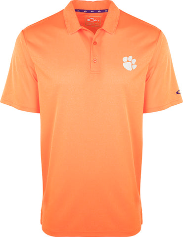 Clemson Vintage Heather Polo
