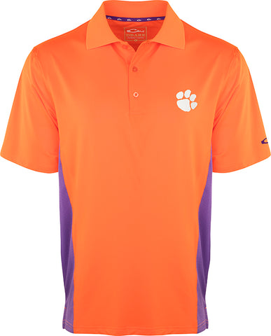 Clemson Performance Polo with Mesh Sides