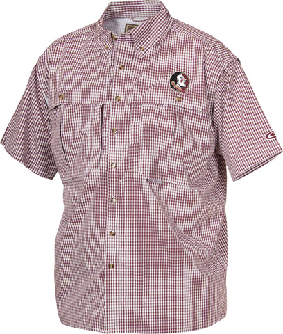 Florida State Plaid Wingshooter's Shirt Short Sleeve