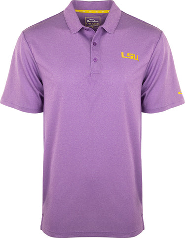 LSU Vintage Heather Polo
