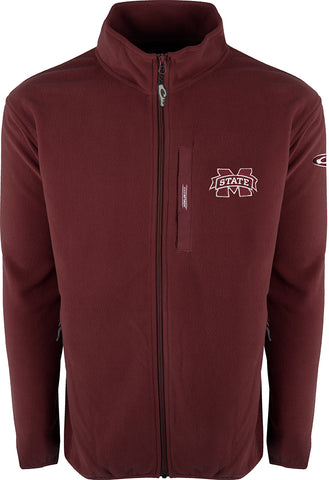 Mississippi State Full Zip Camp Fleece
