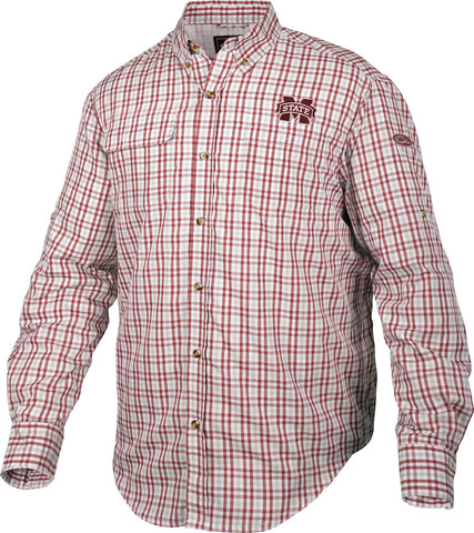 Mississippi State Gingham Plaid Wingshooter's Shirt L/S