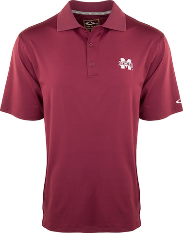 Mississippi State Performance Stretch Polo