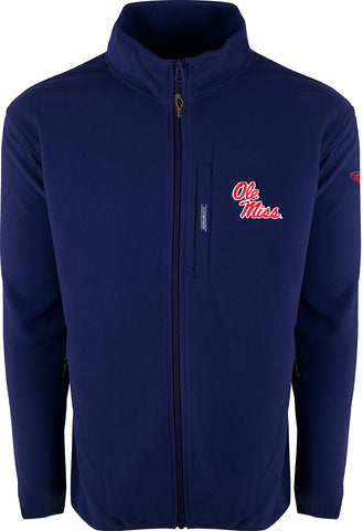 Ole Miss Full Zip Camp Fleece
