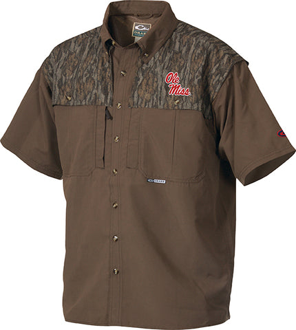 Ole Miss Camo Wingshooter's Shirt Short Sleeve