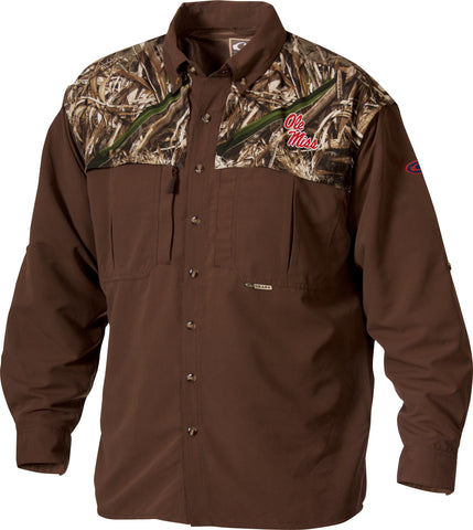 Ole Miss Camo Wingshooter's Shirt L/S