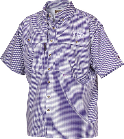 TCU Plaid Wingshooter's Shirt Short Sleeve