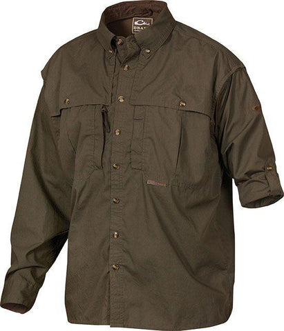 Cotton Wingshooter's Shirt with Staycool Fabric Long Sleeve