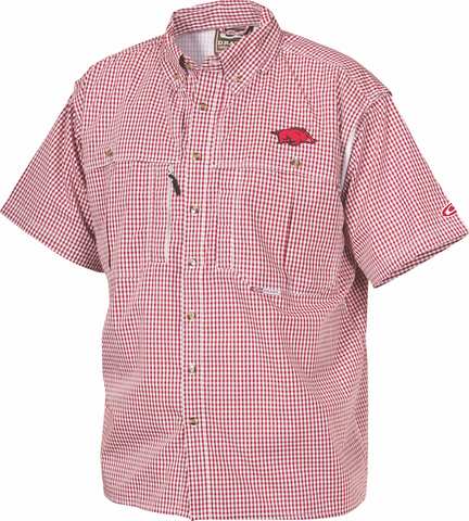 Arkansas Plaid Wingshooter's Shirt Short Sleeve