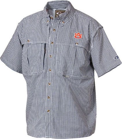 Auburn Plaid Wingshooter's Shirt Short Sleeve