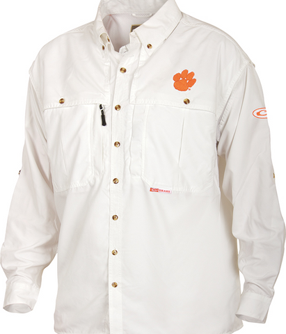 Clemson Cotton Wingshooter's Shirt Long Sleeve