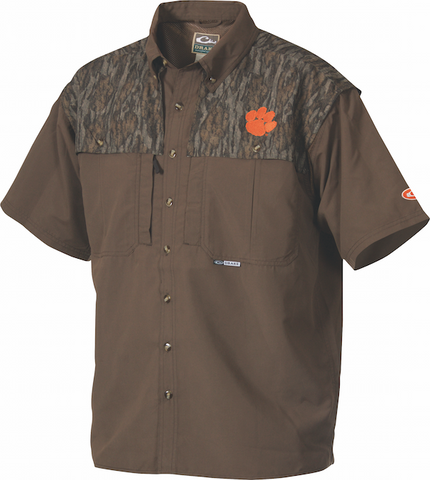Clemson Camo Wingshooter's Shirt Short Sleeve