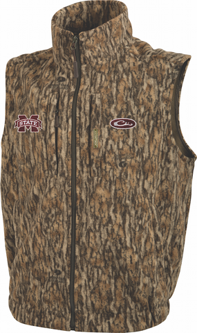 Mississippi State Camo Windproof Layering Vest